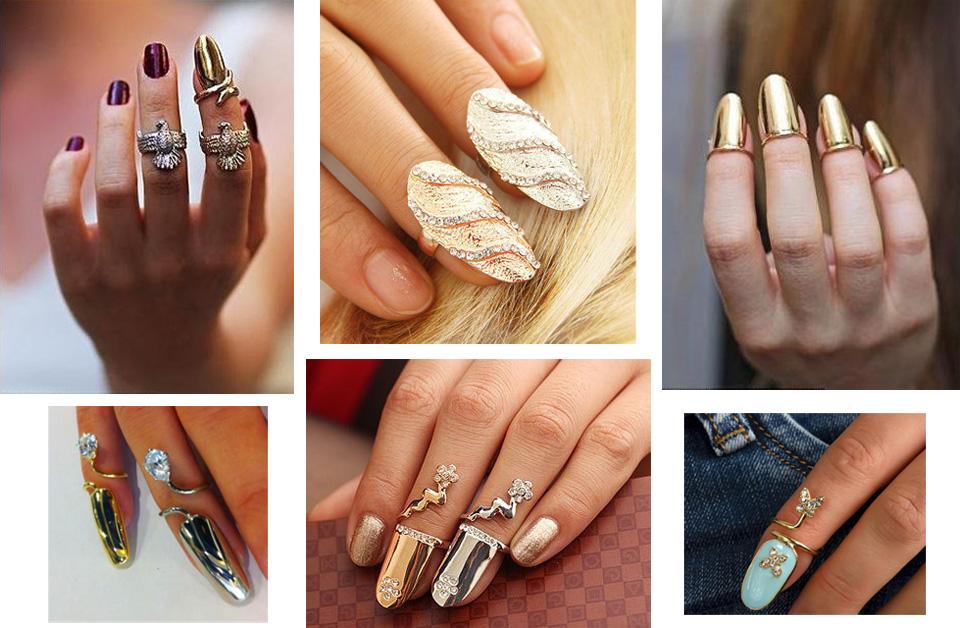 кольца на ногтях