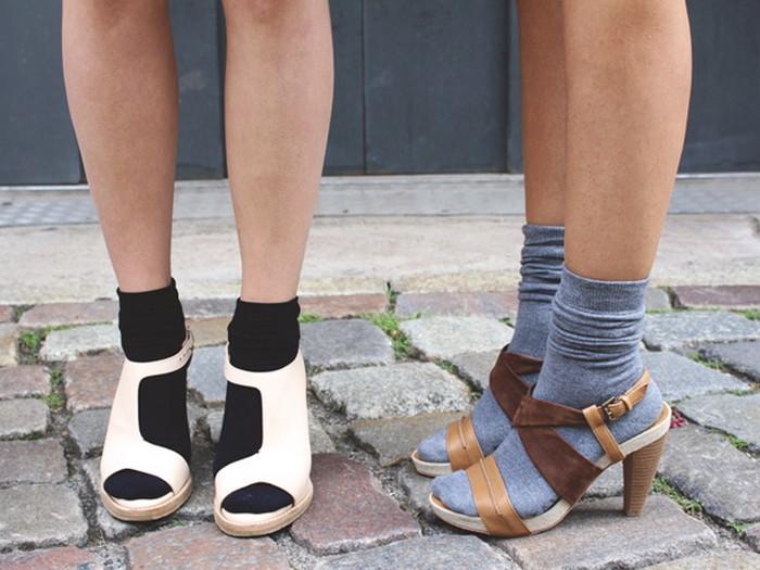 босоножки и носки