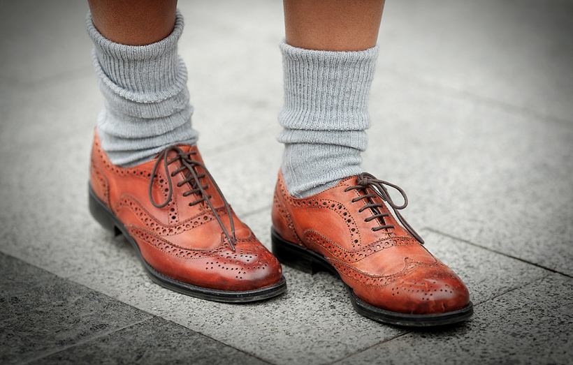 ретро туфли с носками