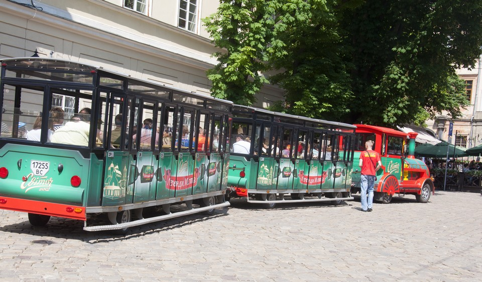 Экскурсионный трамвай во Львове