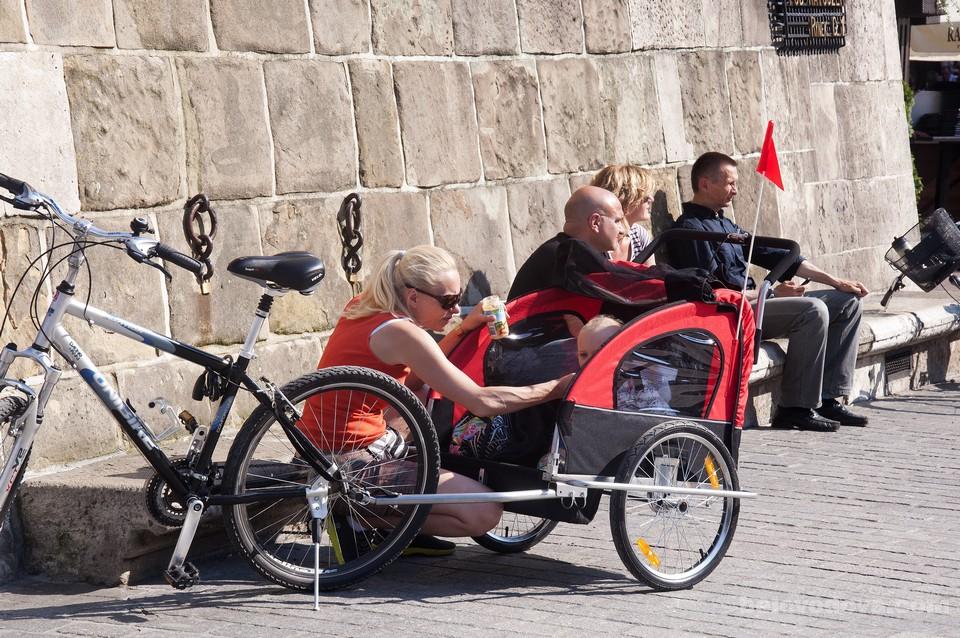 велосипедисты в Кракове
