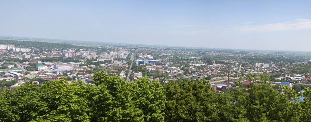 Панорама с горы Высокий замок